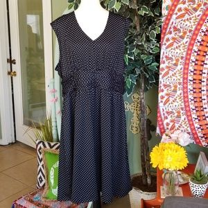 Tessuto Polka Dot Swing Dress